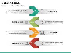 Linear arrows PPT slide 21