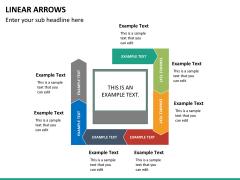 Linear arrows PPT slide 22