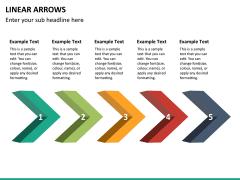 Linear arrows PPT slide 13