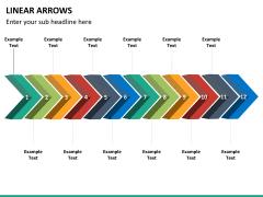 Linear arrows PPT slide 14