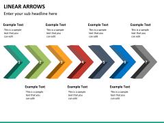 Linear arrows PPT slide 15