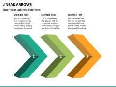 Linear arrows PPT slide 16