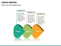 Linear arrows PPT slide 17