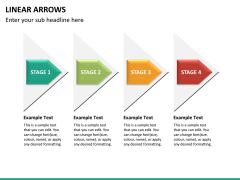 Linear arrows PPT slide 18