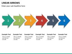 Linear arrows PPT slide 19