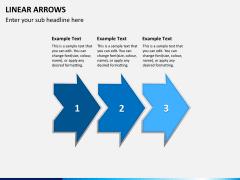 Linear arrows PPT slide 1