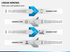 Linear arrows PPT slide 10