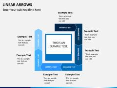 Linear arrows PPT slide 11