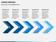 Linear arrows PPT slide 2