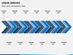 Linear arrows PPT slide 3