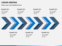 Linear arrows PPT slide 4