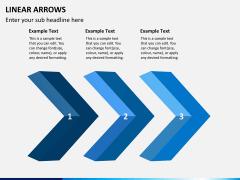 Linear arrows PPT slide 5