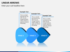 Linear arrows PPT slide 6