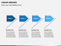 Linear arrows PPT slide 7