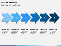 Linear arrows PPT slide 8