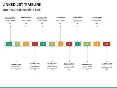 Linked list timeline PPT slide 15