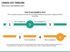 Linked list timeline PPT slide 16