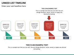 Linked list timeline PPT slide 17