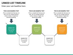 Linked list timeline PPT slide 18