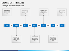 Linked list timeline PPT slide 1