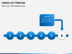 Linked list timeline PPT slide 12
