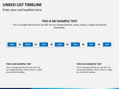 Linked list timeline PPT slide 2