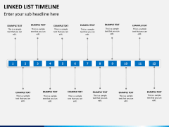 Linked list timeline PPT slide 3