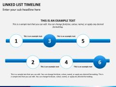 Linked list timeline PPT slide 4