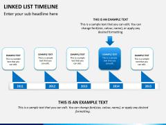 Linked list timeline PPT slide 5