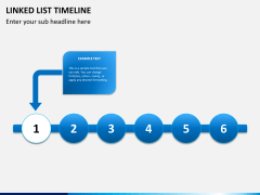 Linked list timeline PPT slide 7
