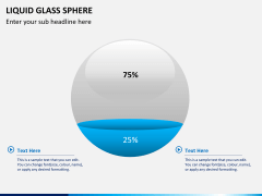 Liquid glass sphere PPT slide 2