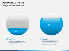 Liquid glass sphere PPT slide 3