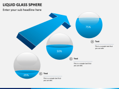Liquid glass sphere PPT slide 4
