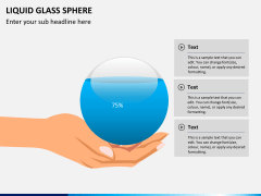 Liquid glass sphere PPT slide 7