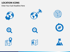Location icons PPT slide 2