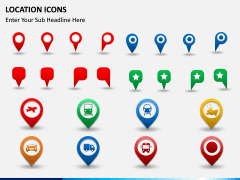 Location icons PPT slide 4
