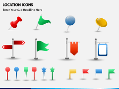Location icons PPT slide 5