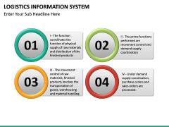 Logistics Information PPT slide 23