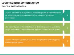 Logistics Information PPT slide 25