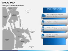 Macau map PPT slide 12