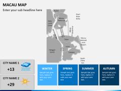 Macau map PPT slide 14