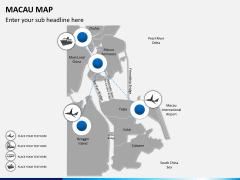 Macau map PPT slide 4