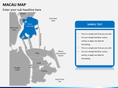 Macau map PPT slide 8