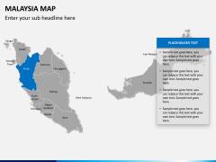 Malaysia map PPT slide 10