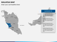 Malaysia map PPT slide 11
