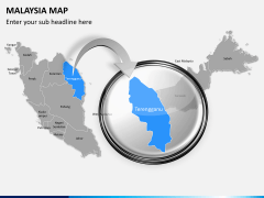 Malaysia map PPT slide 13