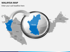 Malaysia map PPT slide 14