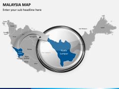 Malaysia map PPT slide 15