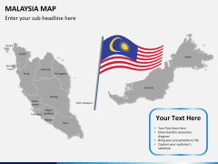 Malaysia map PPT slide 21