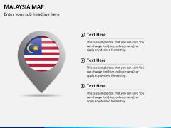 Malaysia map PPT slide 23